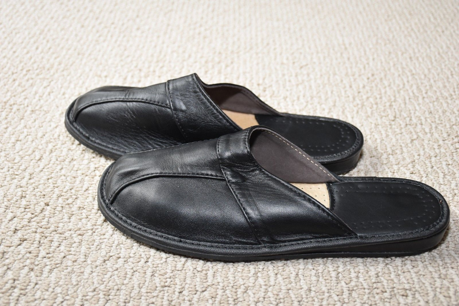 Leather House sheepskin Scuff or Slide Slippers Light Weight