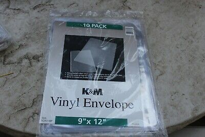 Avery Km Top-load Clear Vinyl Envelopes Thumb Notch 9 X 12 Insert Size 10pack