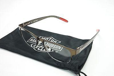 Authentic New Harley Davidson Eyeglasses Carbon Fiber Brown HD480 BRN 53-18-145