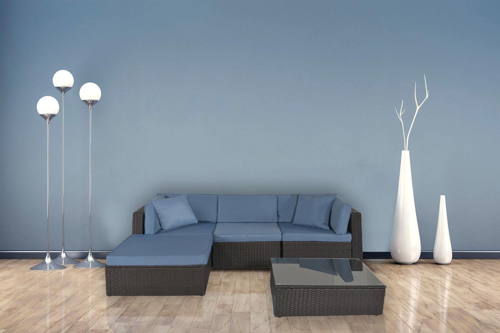 Garden Furniture - Patio Furniture Sectional Sofa Set Outdoor Rattan PE Wicker Large Cushioned Seat