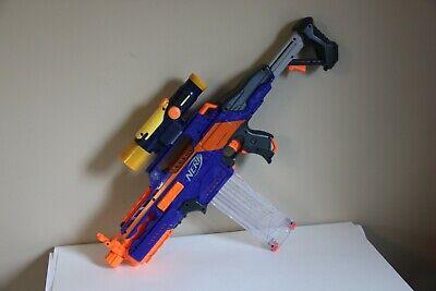 Nerf Rapidstrike CS-18 Dart Gun Blaster W/ Clip Magazine Clear and LS Scope