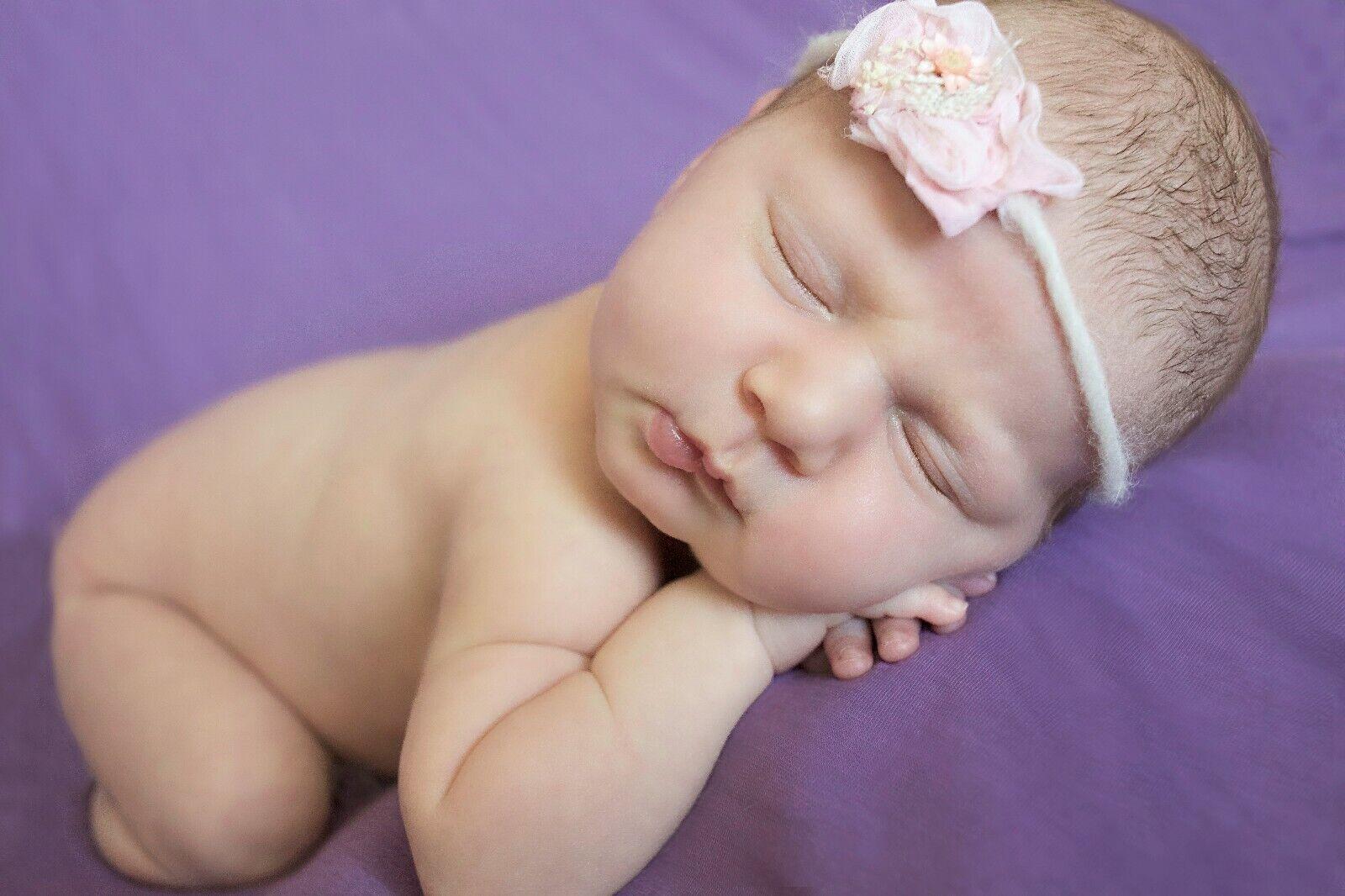 Newborn Photo Prop: Plum Bean Bag Blanket for Newborn Photo