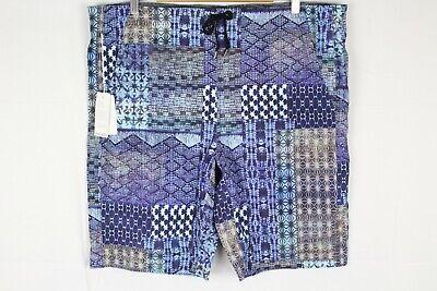 New Manduka Men's The Homme Redux Yoga Shorts XL Havana Patchwork Print