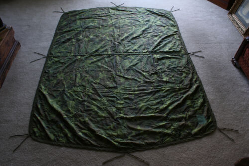Vietnam 1969 Dated US Army ERDL Poncho Liner Center Seam Woobie w/ All Ties