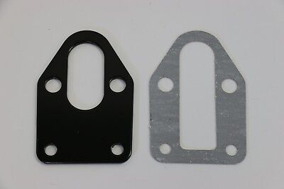Fuel Pump Mounting Plate - SBC Black Fuel Pump Mounting Plate With Gasket 283 305 327 350 383 400 SB Chevy