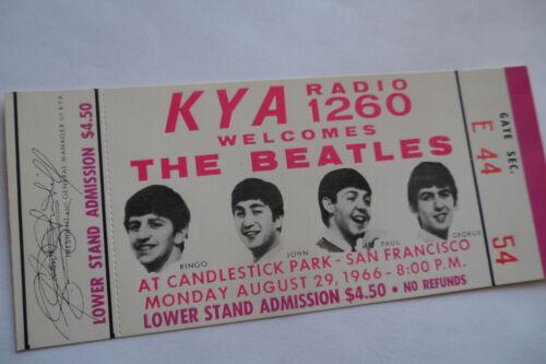 THE BEATLES 1966__Candlestick Park *** UNUSED *** CONCERT TICKET__Nice!!!  EX+