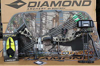 (2019 Diamond Bowtech Infinite Edge Pro RH CAMO Bow UPGRADED Package With Case)