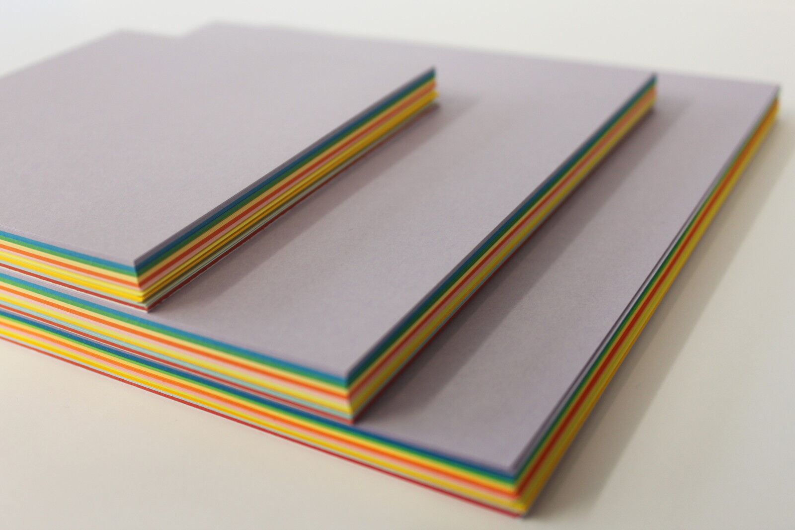 ORIGAMI PAPER. SMOOTH 80gsm. 100 DOUBLE SIDED ASSORTED COLOURED SHEETS. 3 SIZES.