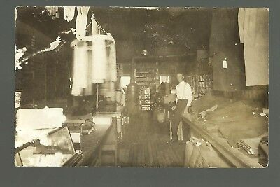 Livermore IOWA RP 1910 INTERIOR GENERAL STORE Clerk Goods nr Humboldt Lu (Livermore Stores)