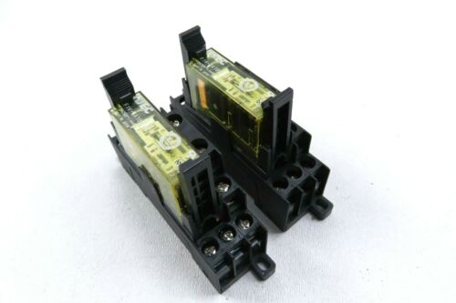 Lot of 2 Idec RF1V-3A1BL-D24 Force Guided Safety Relay w/ Idec SF1V-4-07L