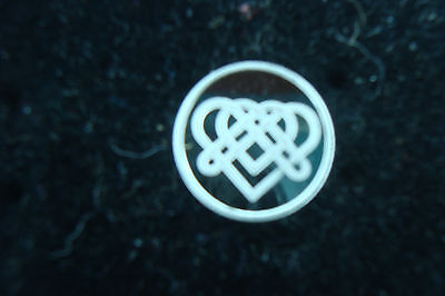 Endless Celtic Heart 1 Gram .999 Pure Silver Round Coin Bullion Symbol For Love - $1.84
