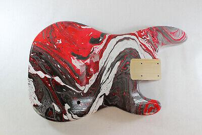 Multicolor Poplar P bass guitar body - fits fender necks J095