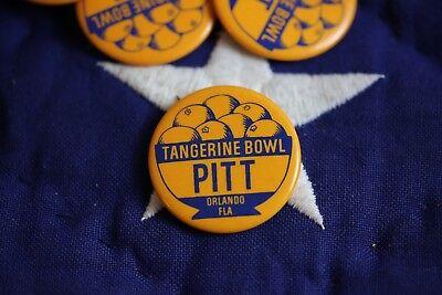 "VINTAGE PIN button UNIVERSITY OF PITTSBURGH PITT Tangerine bowl 60's 70's 1.75"""