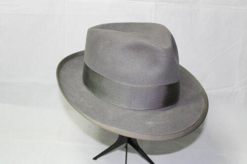 Vintage ROYAL STETSON Gray Fedora Hat 7 3/8