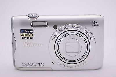 Nikon Coolpix A300 20.1MP Point & Shoot Digital Camera - Silver