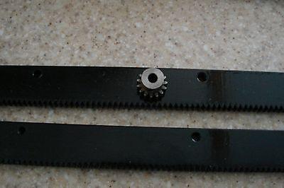 Cnc Stepper Motor Mech Rack Gear 48 Rack 2-24 Pcs 14 15t Pinion Gear