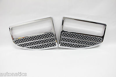 Ford F-250 SUPER DUTY 1999-2004 TFP Logo Vent Insert Accent ROUND CHROME MESH