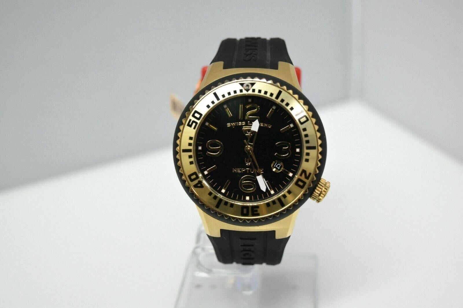 Swiss Legend Swiss Sapphitek 48mm SL-21848P Watch Black/YG/Black