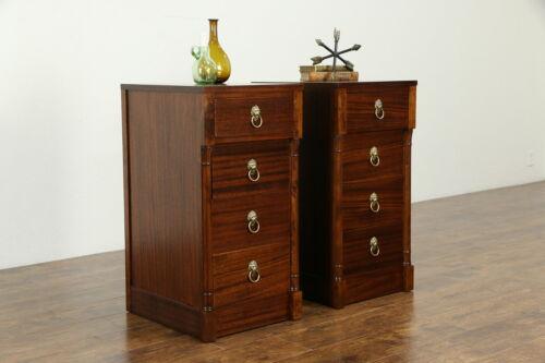 Pair of Regency Design Vintage Mahogany Nightstands or End Tables #34134
