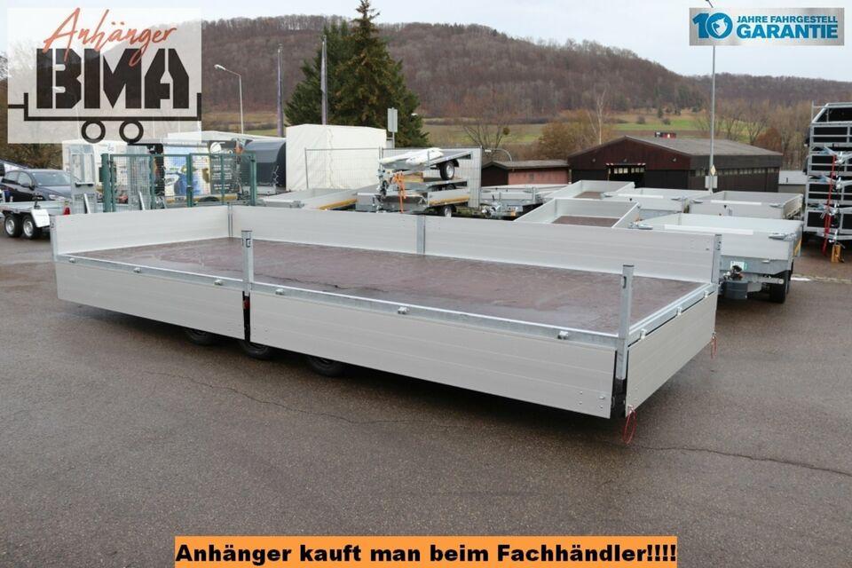 Hapert Hochlader Anhänger TRIEDEM AZURE H-3 605x240x40 3500kg Par in Tannheim