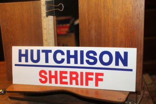 Vintage Political Bumper Sticker Tim Hutchison For Sheriff Knox County Tennessee