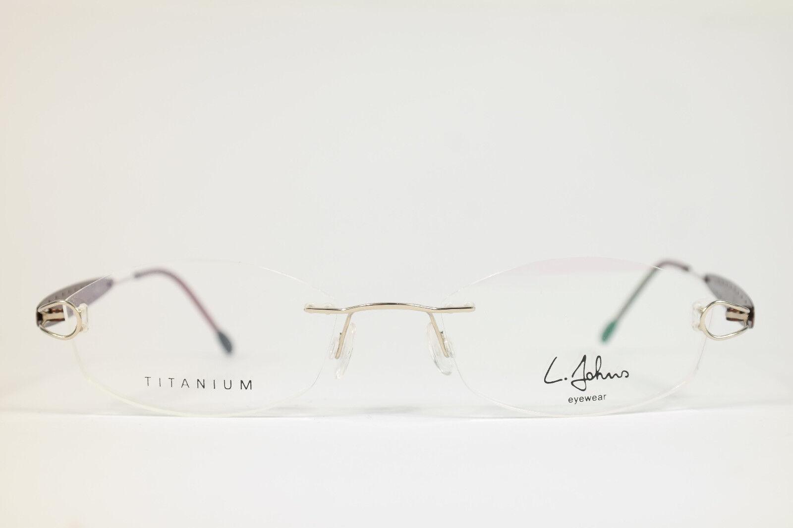 L. Johns Titanium LJ1030 C02 50[]18 138 Kupfer randlos Brillengestell Brille NEU