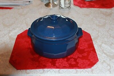Emile Henry 4.2Qt Cobalt Blue Dutch Oven Casserole Roaster Very Nice Must See..!