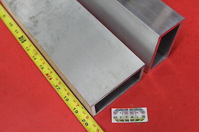 2 Pieces 2 X 4 X 14 Wall Aluminum Rectangle Tube 20 Long 6061 T6