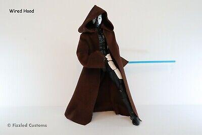 """1:12 Robe Star Wars Black Series Figuarts Jedi 6"""" Dark Brown Anakin Skywalker"""