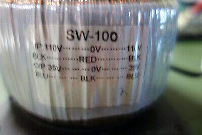 Sw 100 Dual Input 110220v 70vct 250va Used Toroid -krk Plate Amp Transformer