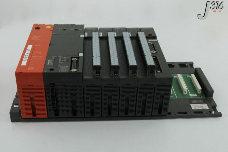 5459 MITSUBISHI MELSEC POWER SUPPLY PLC ASSY W/ 6 MODULES A62P