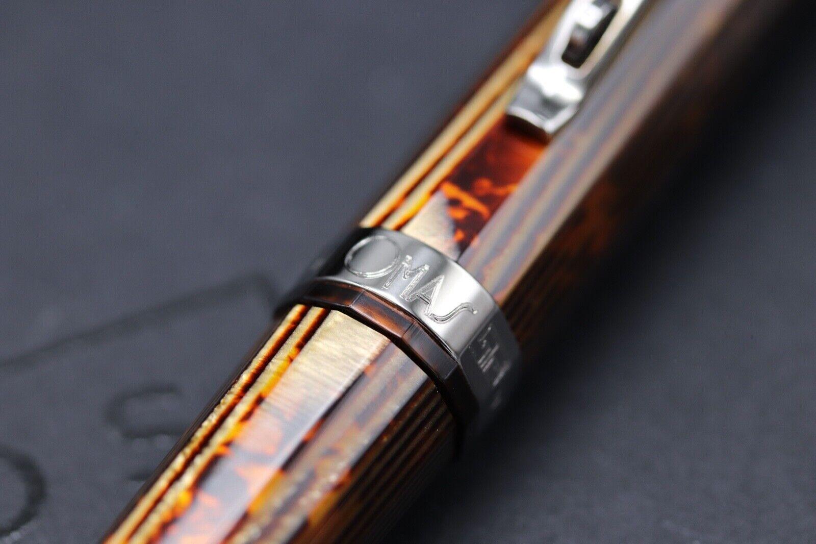 Omas Milord Arco Bronze Celluloid Ruthenium Trim Ballpoint Pen 3