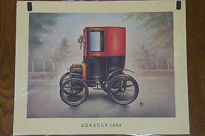 Renault 1899-- Poster - Plakat - Farbe -- 30 x 37 cm --