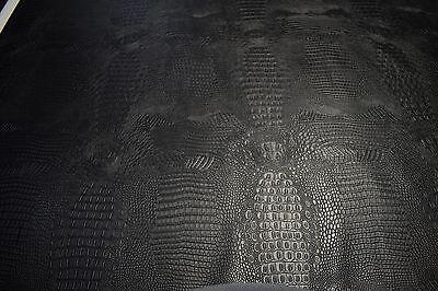 Black Alligator Auto Pro Vinyl Fabric Automotive Seat Cover By The Yard -