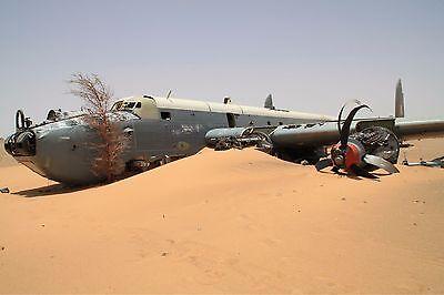 SAAF Avro Shackleton MRK 3 crash in African Desert - 6 x 4 Print