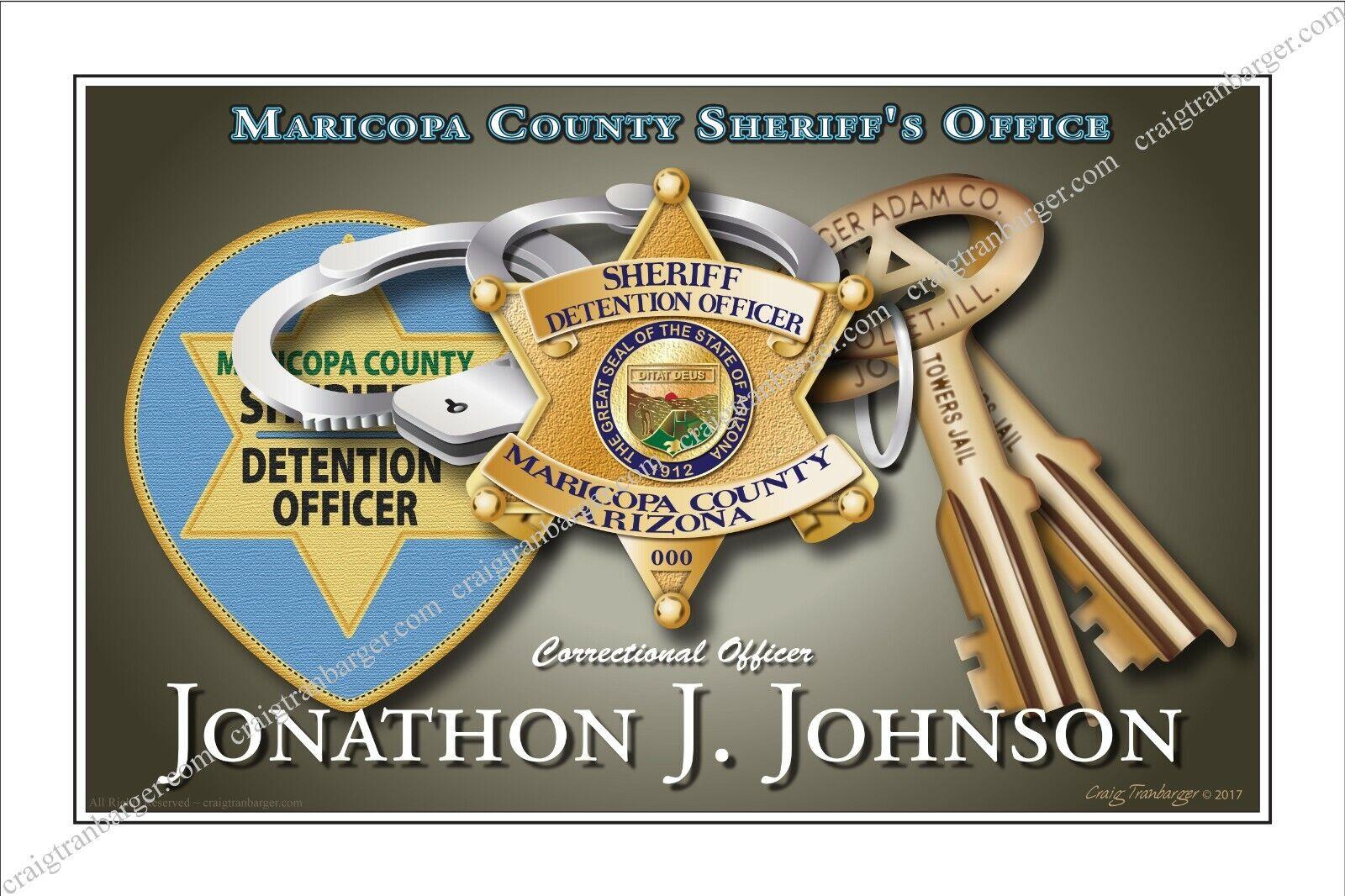Police,Maricopa,County,Sheriff,jail,corrections,guard,Retirement,badge - $55.00