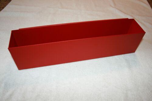 "SPECIAL ORDER 20"" TEXTURED RED TOOL BOX AEROSOL SPRAY CAN HOLDER SHOP ORGANIZER"