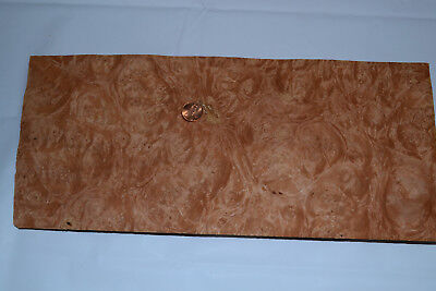 Chestnut Burl Raw Wood Veneer Sheets 6 X 14 Inches 142nd Thick  E4712-47