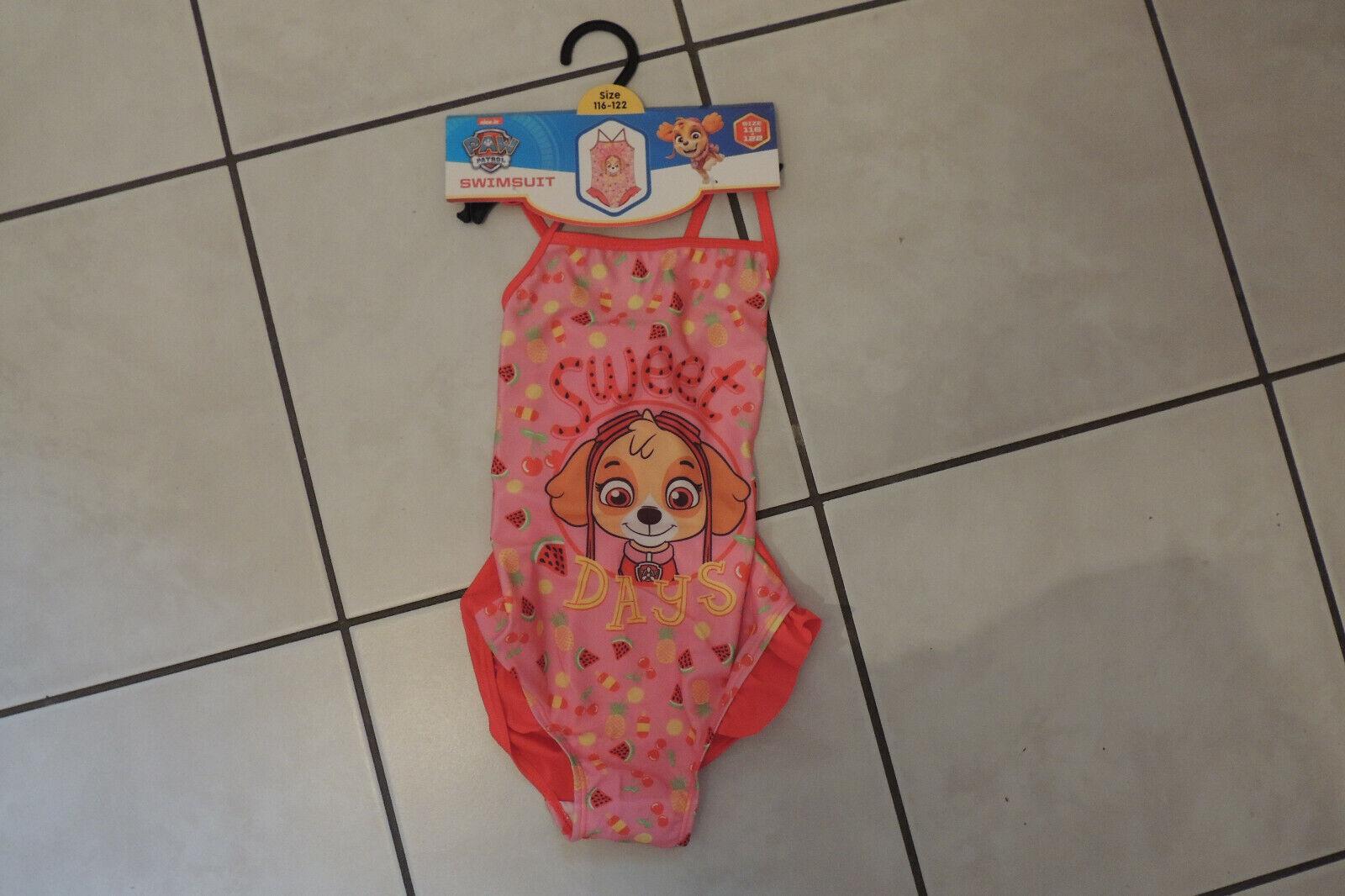 Badeanzug Swimsuit Mädchen Sommer Bikini Paw Patrol Gr 92,98,104,110,116,122 Neu