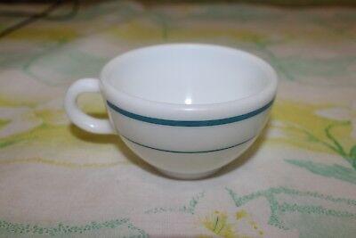 Pyrex Corning White Blue Stripe Coffee Mug 701-2 Made in USA