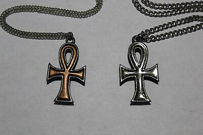 Eternal Sparkles Jewelry (Lot of 39 Pewter Sparkle & Copper Eternal Cross Pendant Charm Necklace)