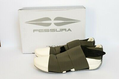 Fessura Men's US 8.5 EU 41 - White + Green - Tokyo Street Style - Mummy Shoe