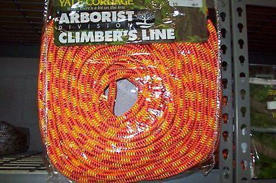 Tree Climbing Linerope 12 X 150 Yale Xtc Fire 16strand6200 Lb. Strength Usa