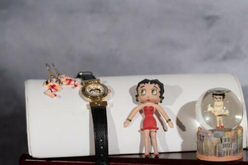 Betty Boop Watch Fantasma 1995 Plus Earrings Betty Boop Snow Globe, Doll Vintage