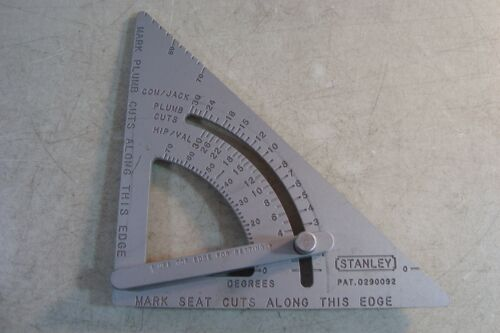 STANLEY Adjustable Quick Square Patent 0290092 Roofer NICE*