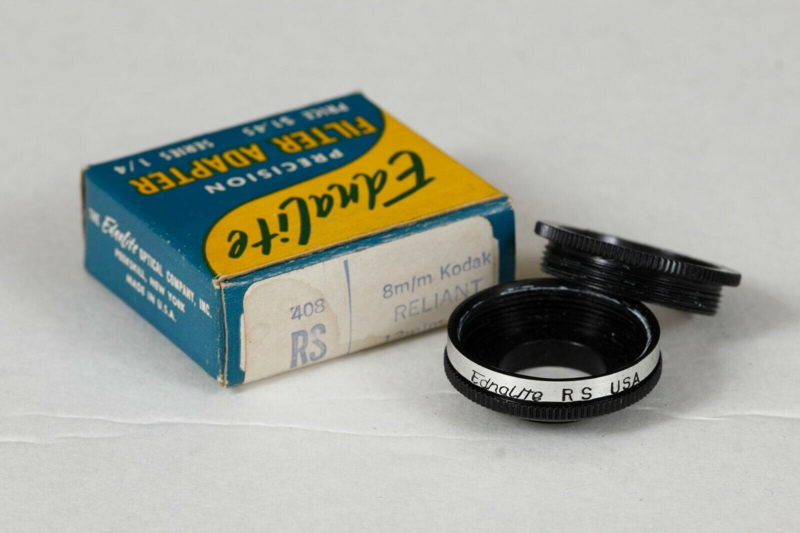 Ednalite 408RS Series 1/4 Screw-in Adapter For Kodak Reliant 8mm - $14.25