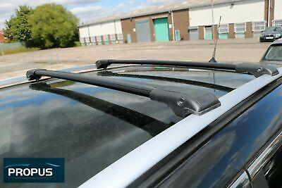 MERCEDES GLK ab Bj. 2010 Dachträger aus Aluminium - Querträger Schwarz
