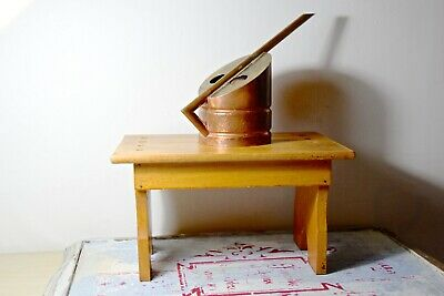 VINTAGE PRIMITIVE SMALL WOODEN STOOL - SMALL OLD WOODEN STOOL - LOW STOOL 1