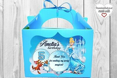 5x Princess Cinderella goodie bags. Royal party decor Gift boxes / parcels girly
