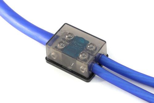 KnuKonceptz Bassik 2 Way 0 Gauge to 4 / 8 Gauge Mini ANL Fuse Block w Fuses